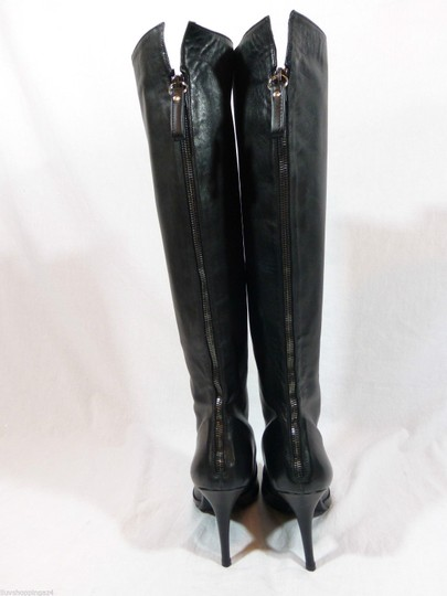 Stuart Weitzman Knee High Tall Leather Black Boots