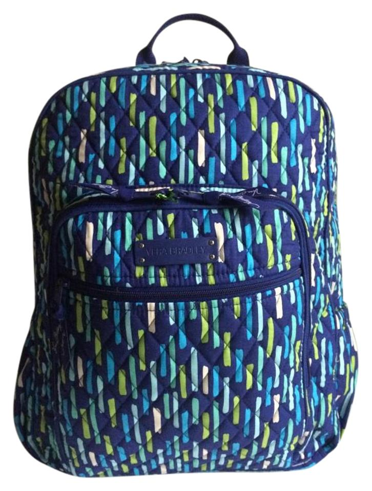 2820766af Vera Bradley Quilted Campus Katalina Showers Cotton Backpack - Tradesy