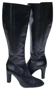 J.Crew Knee High Leather Black Boots