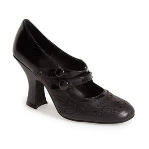 Jeffrey Campbell Eclaire Wingtip Mary Jane Black Pumps