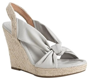 Corso Como Sandals Leather Peep Toe gray Wedges