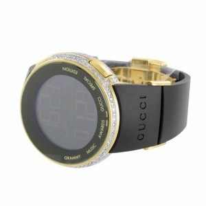 Gucci I Gucci Ya114215 Diamond Watch Gold Finish Grammy Awards Edition Digital Mens