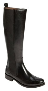 Ron White Leather Tall Boot Black Boots