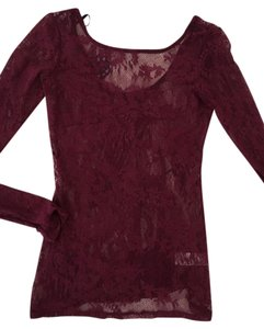 Anthropologie Anthro Top Red