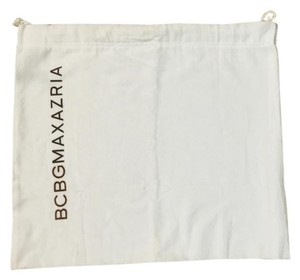 BCBGMAXAZRIA white dust bag