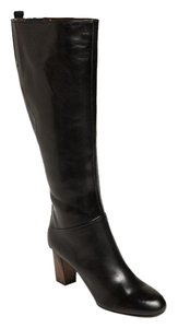 Attilio Giusti Leombruni Leather Knee High Tall Boot Black Boots