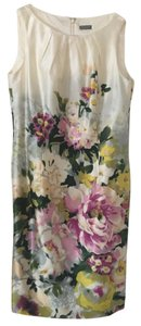 cream, multicolored floral design Maxi Dress by Ann Taylor