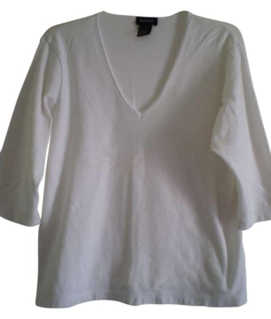 Preload https://item3.tradesy.com/images/white-nice-v-neck-34-sleeves-tee-shirt-size-18-xl-plus-0x-183077-0-0.jpg?width=400&height=650