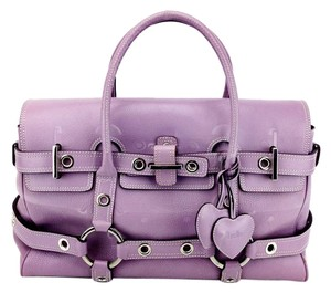 Luella Bartley Gisele Leather Satchel in Lavender