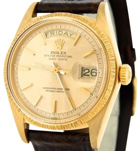 Rolex Men Rolex Solid 18kt 18k Yellow Gold Day-date President Champagne Brown 1807