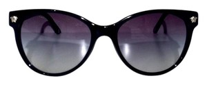 Versace Black Cat Eye Sunglasses with Silver Trim VE 4214 FREE 3 DAY SHIPPING