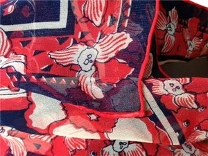 Other Floral 100% silk scarf.