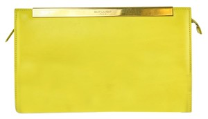 Saint Laurent Ysl Lutetia Yellow Clutch