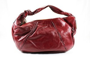 Borbonese Womens Leather Hobo Bag