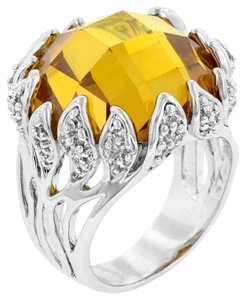 Citrine Open Flame Cocktail Ring
