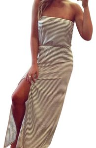 White + Navy Stripe Maxi Dress by Lovers + Friends