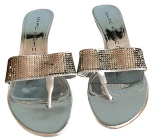 Marc Fisher Silver Sandals