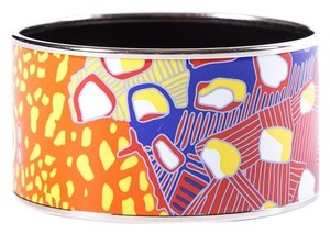 Hermès Hermes Orange & Pink Enamel Bangle Bracelet