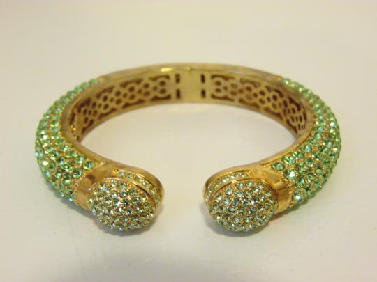 Preload https://img-static.tradesy.com/item/1831286/joan-boyce-goldtone-peridot-green-kissable-pave-crystal-cuff-bracelet-0-1-540-540.jpg