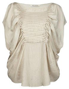 AllSaints Silk Sophistocated Loose Top Stone