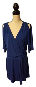 Jessica Simpson short dress Blue Belted Faux-wrap on Tradesy