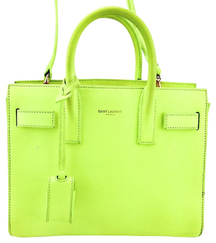 e9586c0d3fa0 Saint Laurent Sac de Jour Nano Mini Satchel Lime Green   Bright  Yellow-green Leather Cross Body Bag