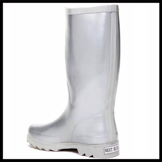 West Blvd Silver Boots Image 1
