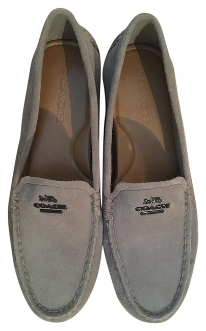 Item - Gray Mary Lock Up Suede Loafers Flats Size US 8 Regular (M, B)