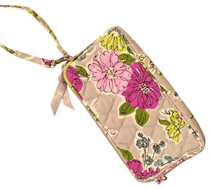 Vera Bradley Wristlet in Purple/blue Floral