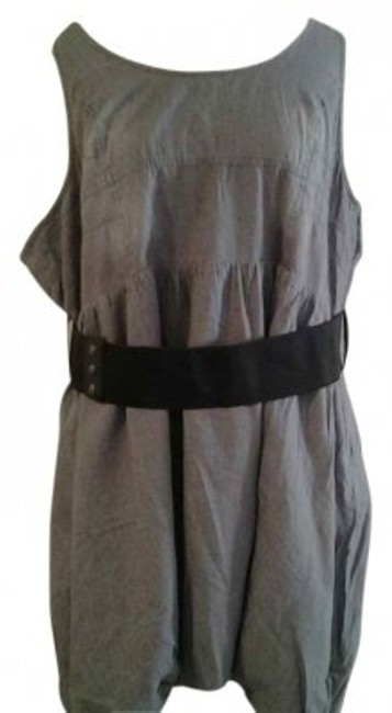 Preload https://item3.tradesy.com/images/grey-sleeveless-with-belt-above-knee-short-casual-dress-size-22-plus-2x-18317-0-0.jpg?width=400&height=650