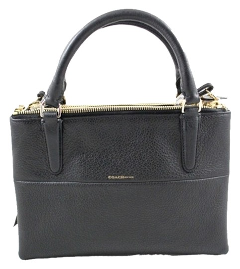 Coach Leather Mini Borough Satchel in Black