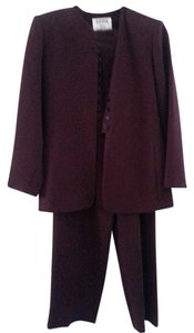 Kasper KASPER Plum Career Pants Suit 4P