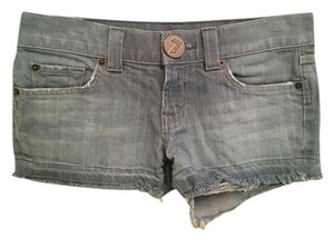 7 For All Mankind Cut Off Shorts light blue