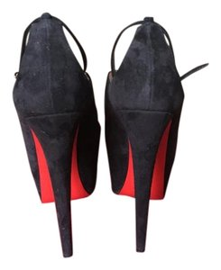 Christian Louboutin Black Red Bottom Platforms