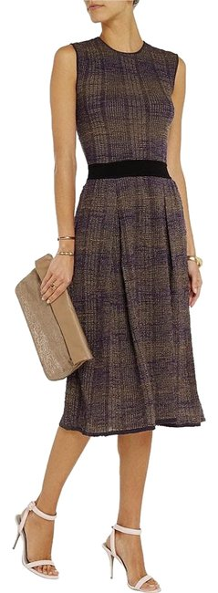 Item - Purple Nadia Knit Midi Mid-length Night Out Dress Size 4 (S)