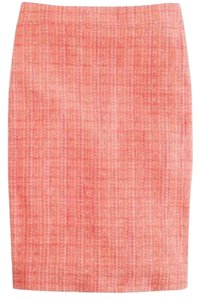J.Crew Skirt Neon Tweed - Orange/Pnik