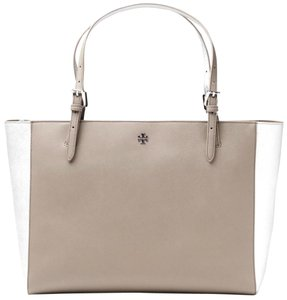Tory Burch Tote in FRENCH GREY SILVER