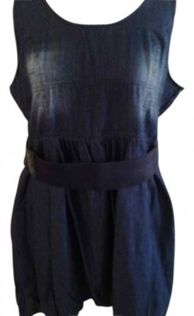 Preload https://item5.tradesy.com/images/blue-jean-with-belt-above-knee-short-casual-dress-size-22-plus-2x-18319-0-0.jpg?width=400&height=650
