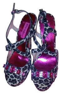 Betsey Johnson Leopard Platforms
