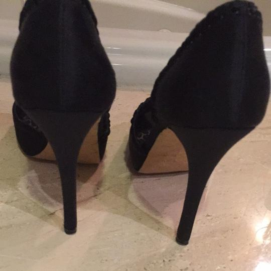Betsey Johnson Black Satin Pumps