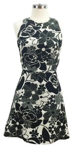 Zara short dress Black and white Cutout Floral Fit Flare Graphic Tapestry on Tradesy