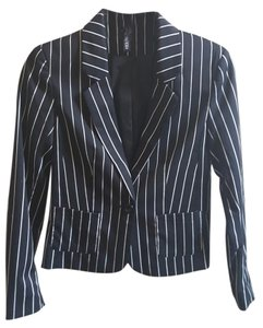 H&M Business Casual Monochromatic Black and White Blazer