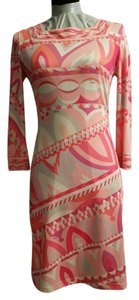 Emilio Pucci short dress Pink/multi color Jersey Silk on Tradesy