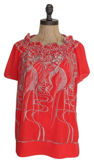 506fc77c8973f cheap Anthropologie ORANGE Hazel Embroidered Top - 65% Off Retail ...