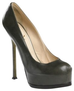 Yves Saint Laurent Dark Gray Pumps