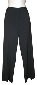 Lafayette 148 New York Wool Stretch Boot-cut Boot Cut Pants Black
