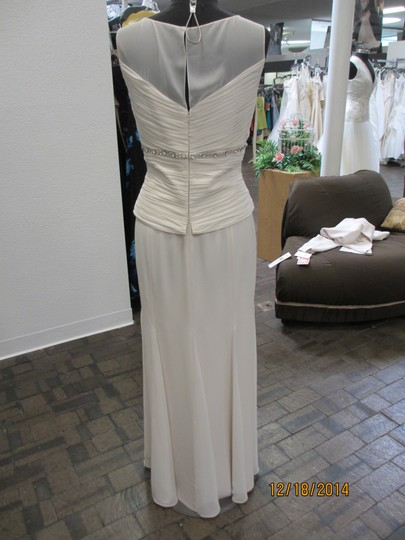 Daymor Couture Bone 7013 Modern Bridesmaid/Mob Dress Size 14 (L)