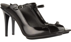 3.1 Phillip Lim Mary Jane Leather Eclectic Gloss Black Mules