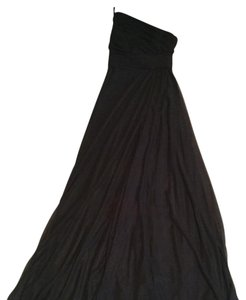 Monique Lhuillier Black Polyester Formal Bridesmaid/Mob Dress Size 2 (XS)