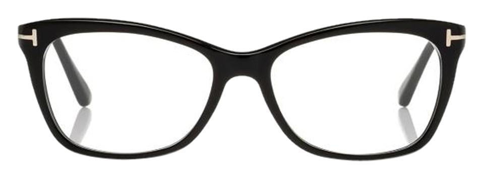 9f2d9b5cff6 Tom Ford Shiny Black Slight Rounded Square Optical Frame - Tradesy